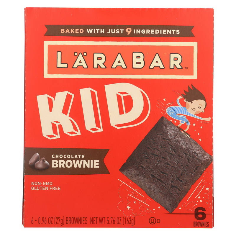 Larabar Kid Chocolate Brownie Bars - 6 pack, 5.76 oz box