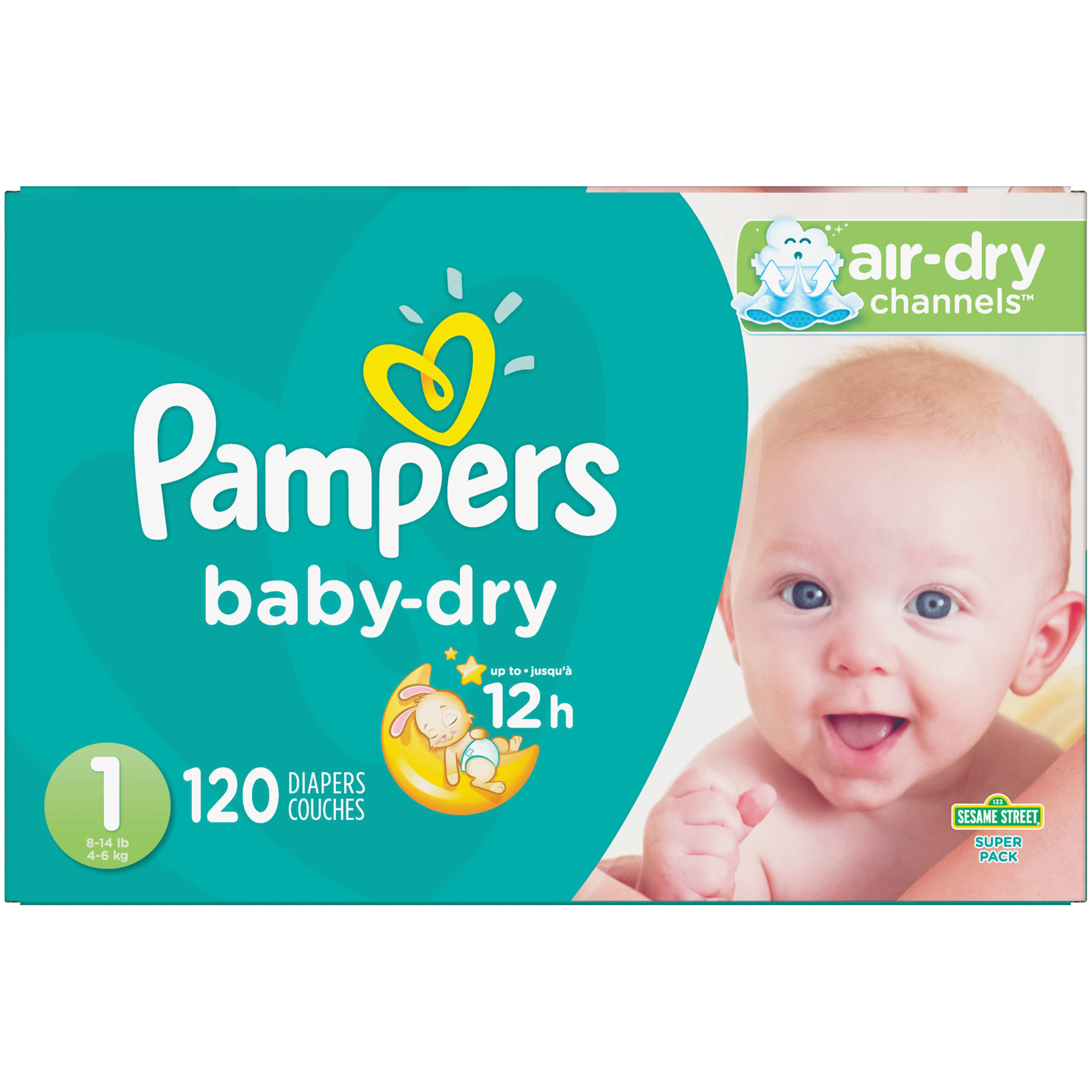 Pampers Baby Dry Diapers - 120 Pack