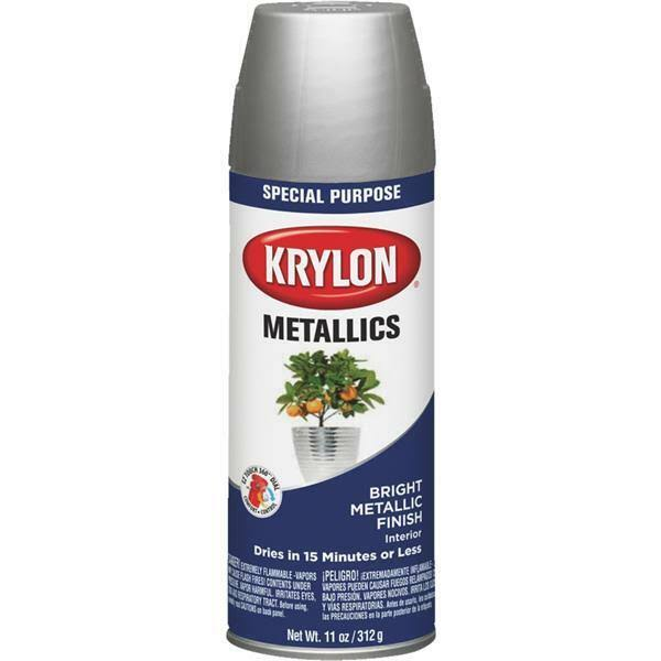 Krylon K01401777 12 oz Bright Silver Spray Paint