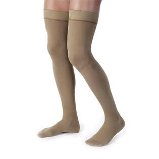 Jobst Relief Men's Closed Toe Thigh High Support Sock - Khaki, X-Large