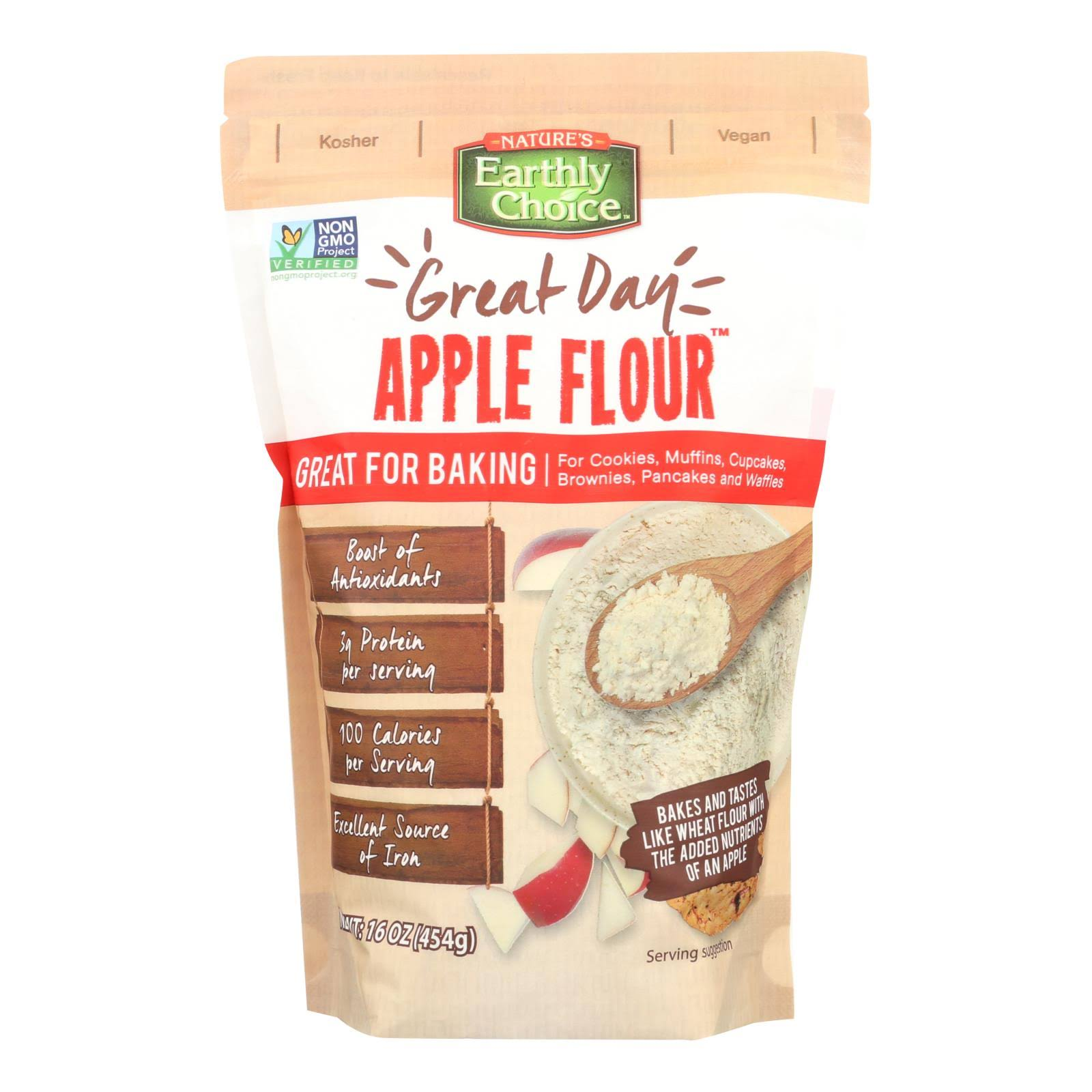 Natures Earthly Choice Baking Mix, Apple Flour - 16 oz