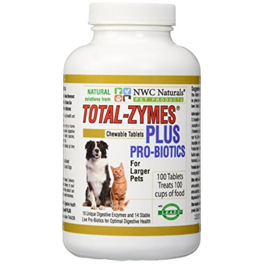 NWC Naturals Total-Zymes Plus Pet Enzymes and Probiotics - 100 Tablets