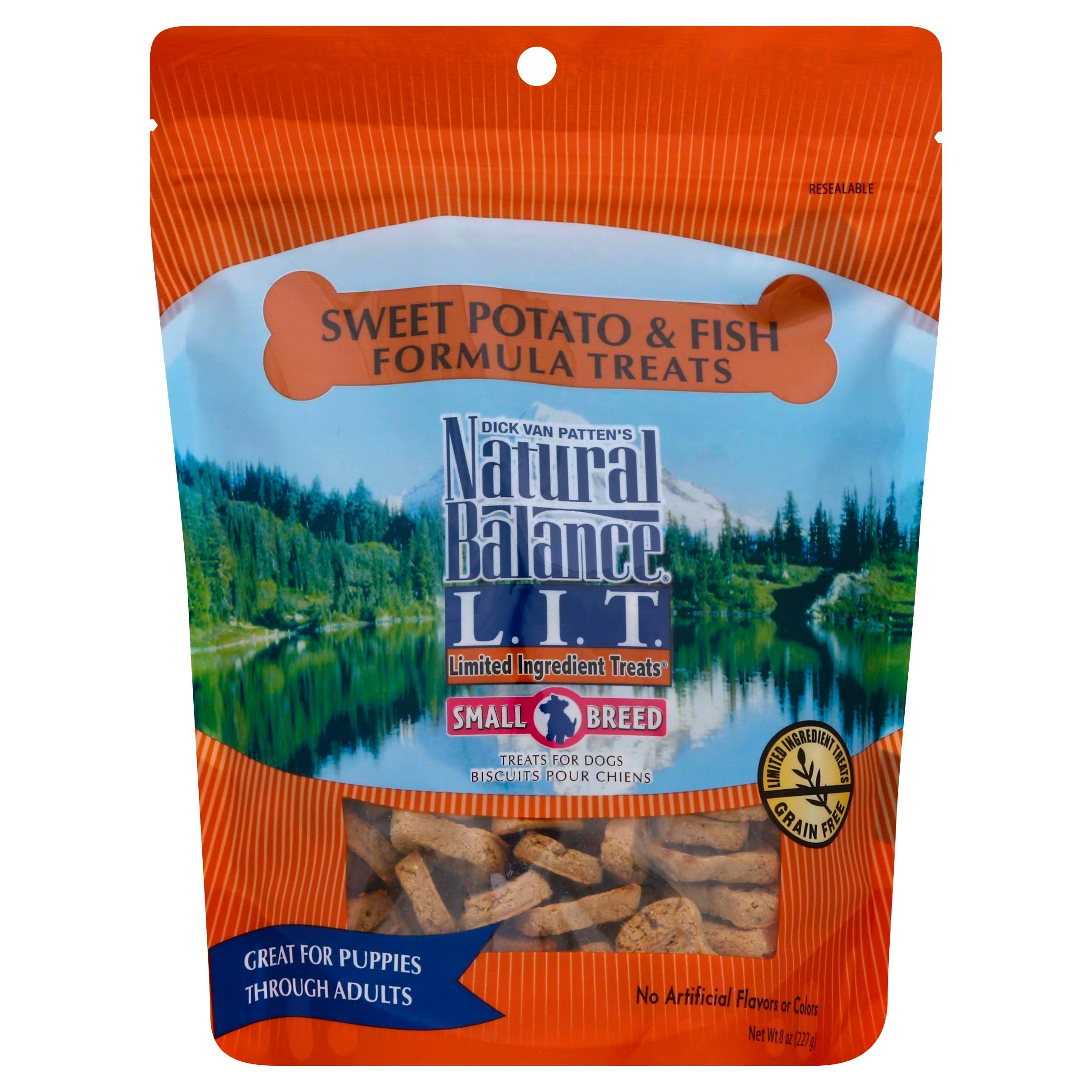 Natural Balance L.I.T. Treats for Dogs, Sweet Potato & Fish Formula, Small Breed - 8 oz