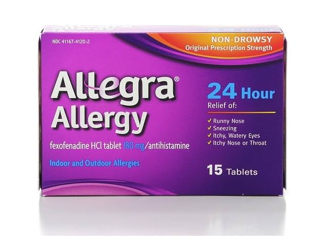 Allegra Adult 24 Hour Allergy Relief - 180mg, 15ct