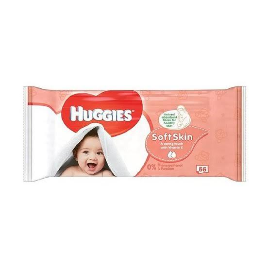 Huggies Soft Skin Single Wipes - 56ct
