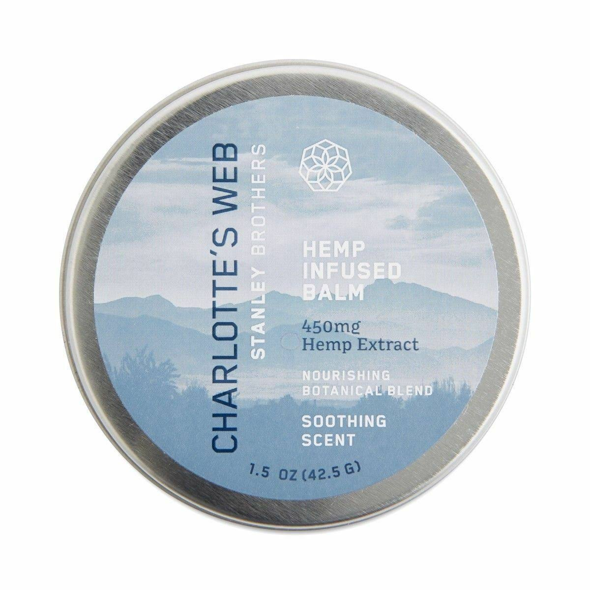 Charlotte's Web Hemp Infused Balm - Soothing Scent, 1.5oz