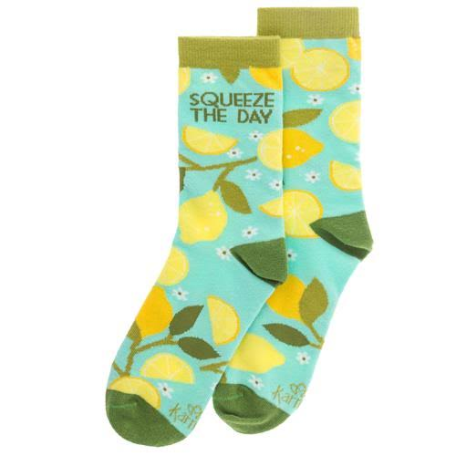 Karma Gifts Squeeze The Day Lemon Tree Crew Socks