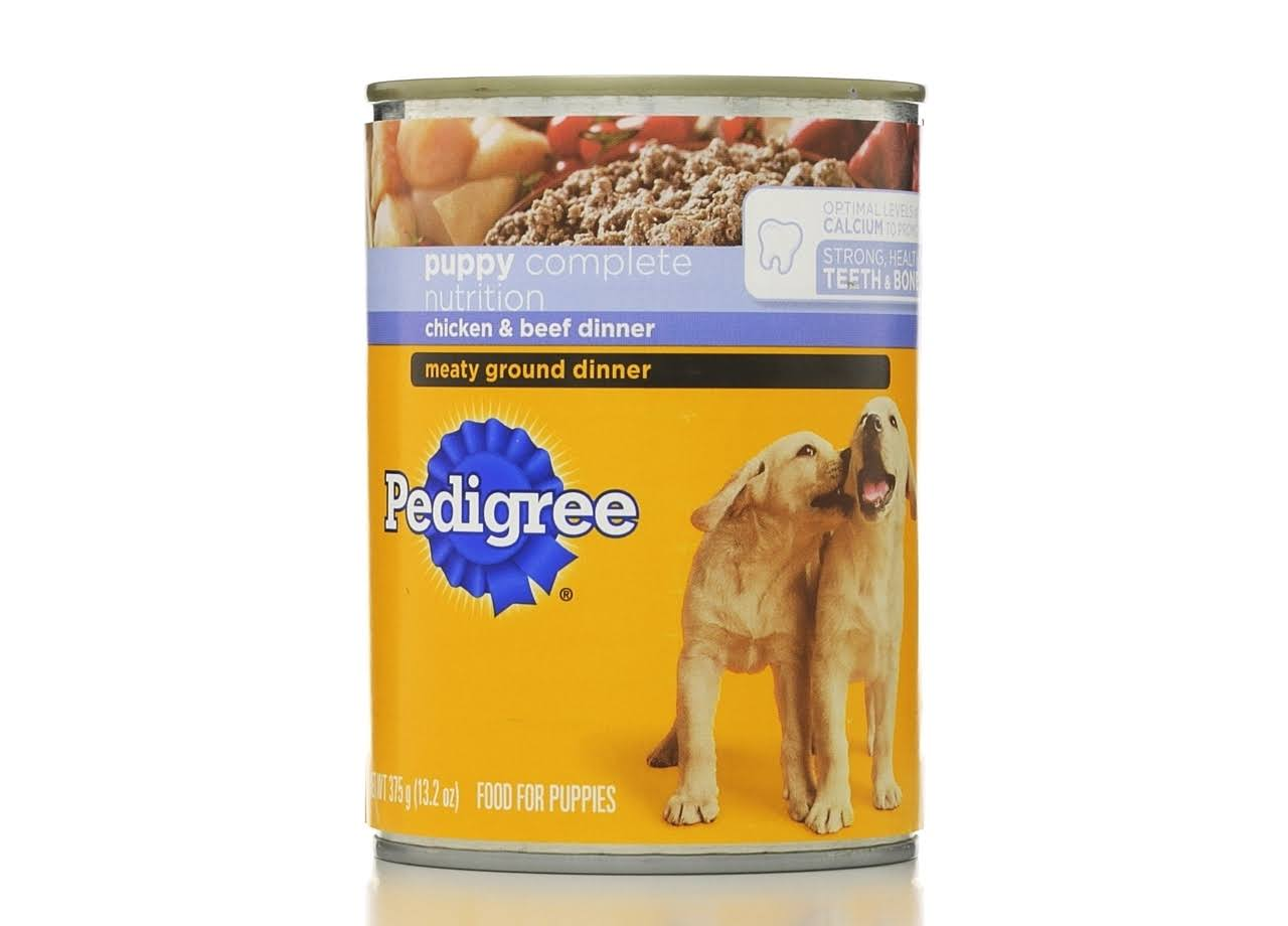 Pedigree Puppy Chopped Ground Dinner Dog Food - Chicken and Beef, 13.2oz