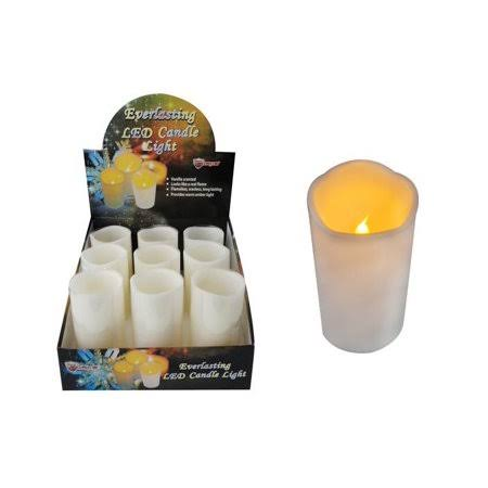 "DDI LED Flickering Wax Candle - 6"", Case of 9"