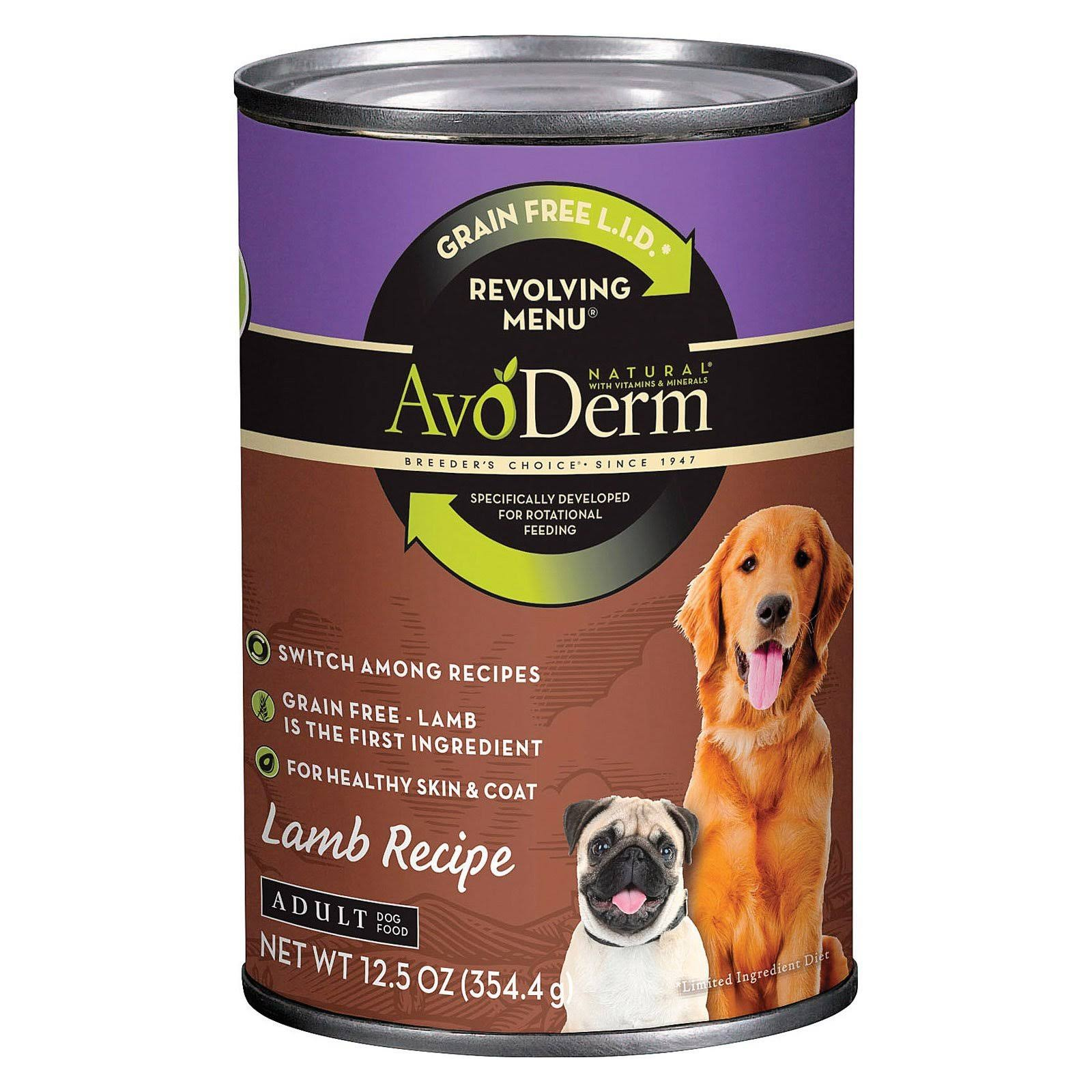 AvoDerm Breeder's Choice Canned Adult Dog Food - Lamb Recipe, 12.5oz