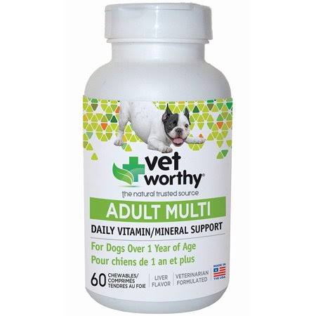 Vet Worthy Puppy Multi Vitamin Chewables - for Dogs, Liver Flavored
