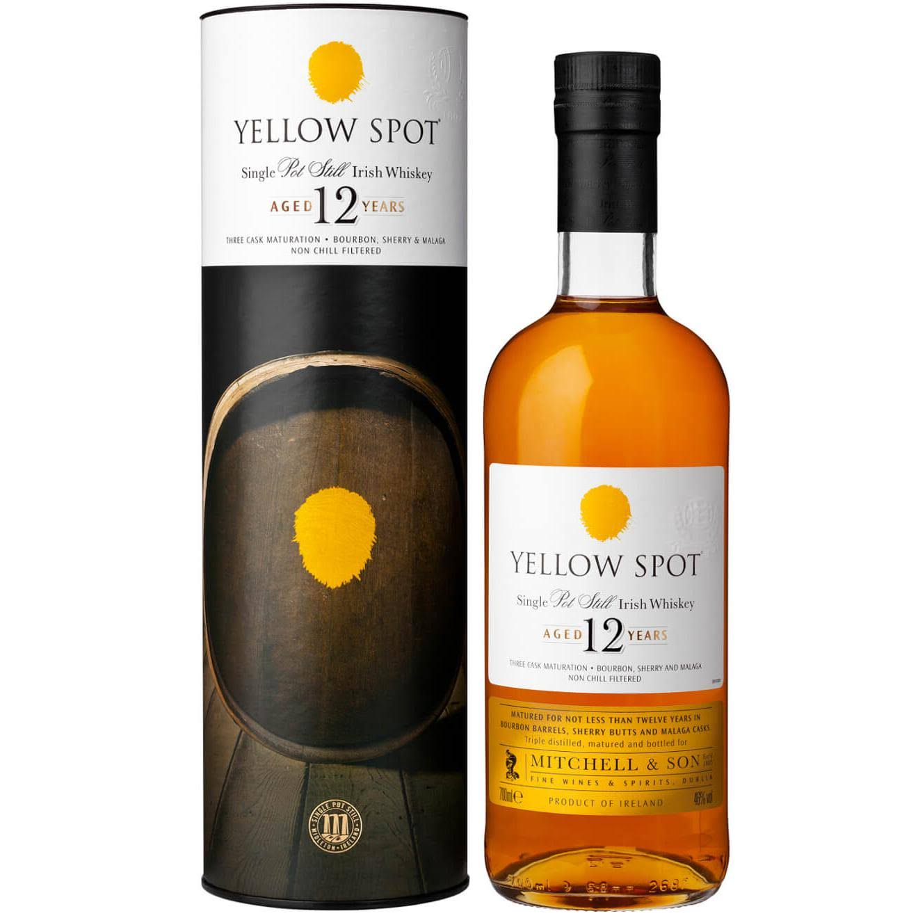 Yellow Spot Single Pot Still Irish Whiskey - Aged 12 Years, 700 ml