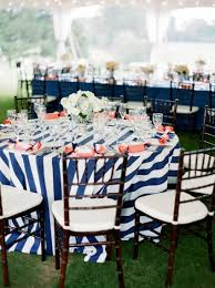 Fitted Outdoor Tablecloth With Umbrella Hole by Blue And White Striped Tablecloth Hats Off America