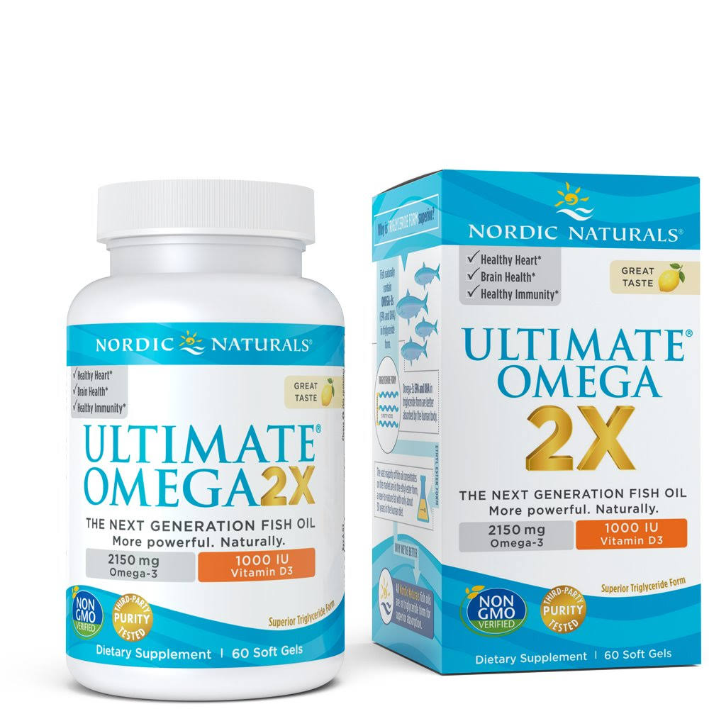 Nordic Naturals Ultimate Omega D3 Sport Supplement - 60ct