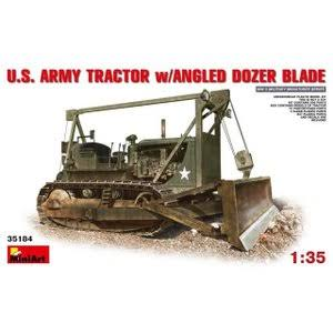 Mini Art US Army Tractor Angled Dozer Plastic Model Kit - 1/35 scale