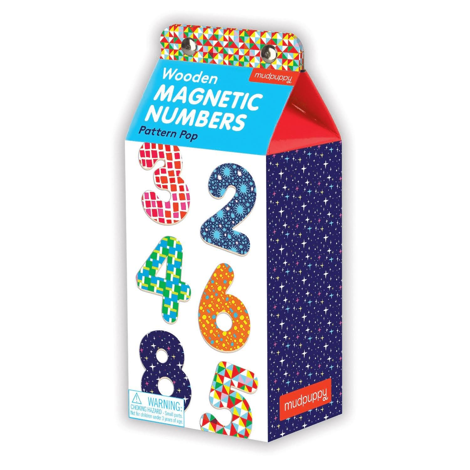Pattern Pop Wooden Magnetic Numbers - Mudpuppy