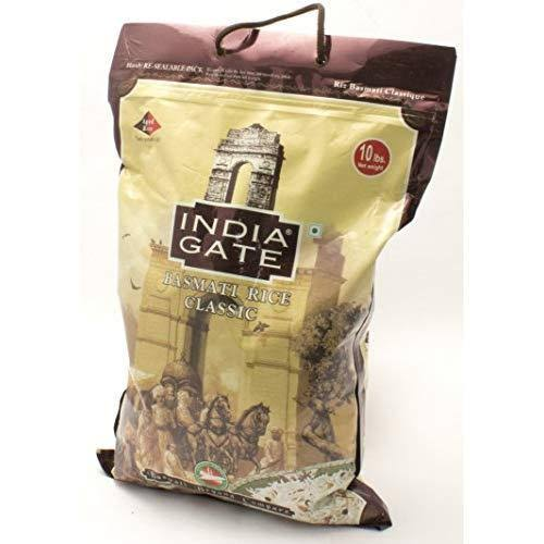 India Gate Basmati Rice - Classic, 10lbs, White