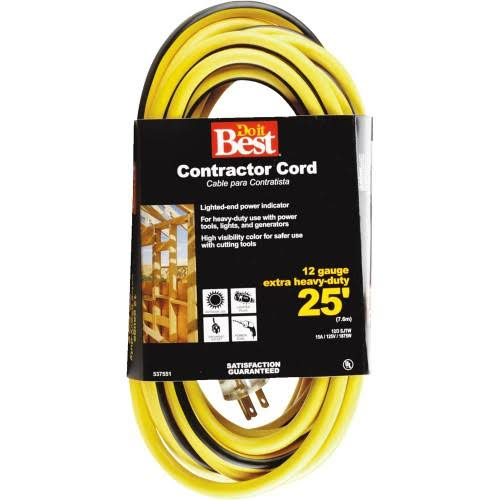 Woods Import Cords Do it Best Lighted Contractor Cord - 25'
