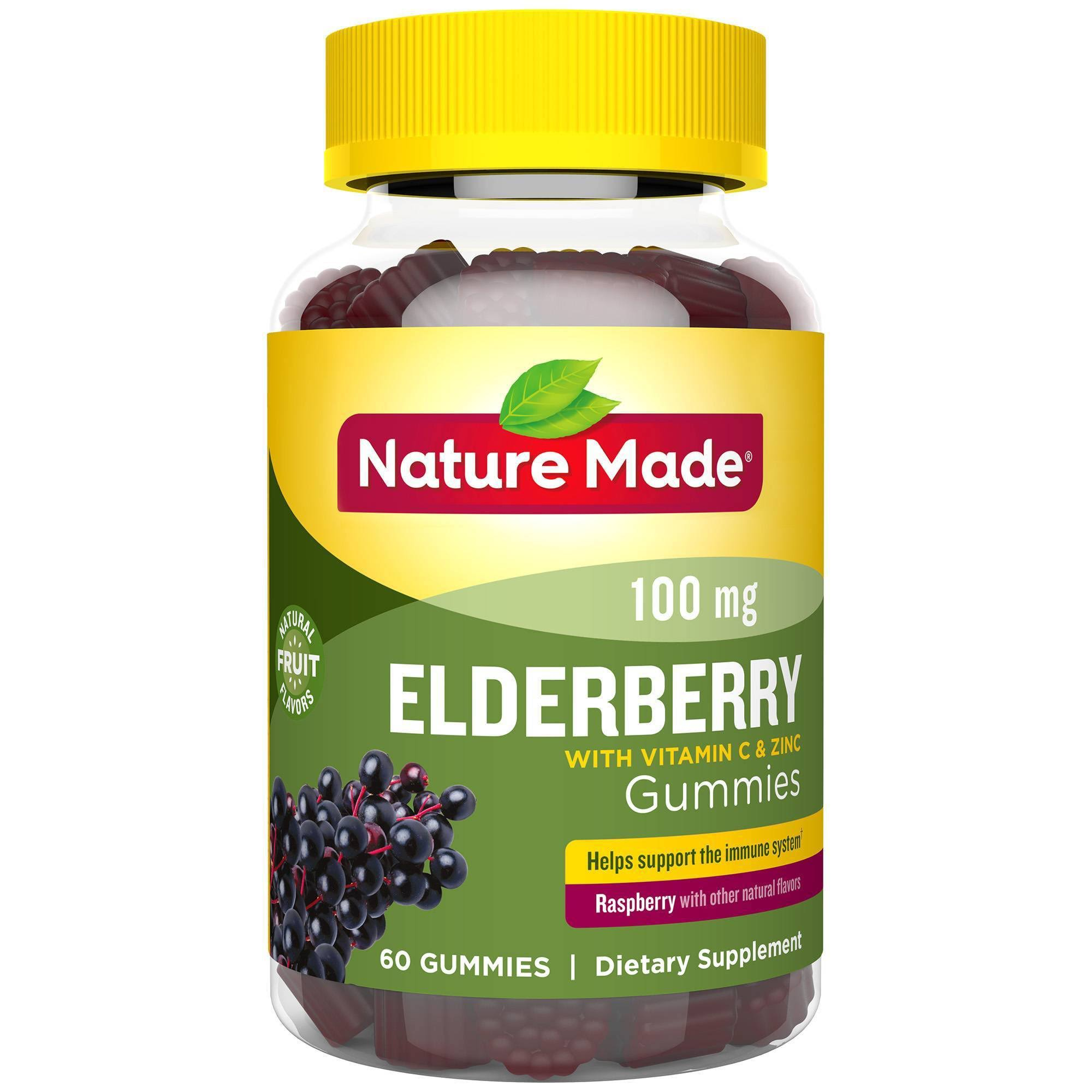 Nature Made Elderberry, 100 mg, Gummies, Raspberry - 60 gummies