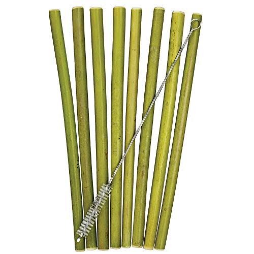 Totally Bamboo 8.5 inch Reusable Bamboo Drinking Straws - 8pk