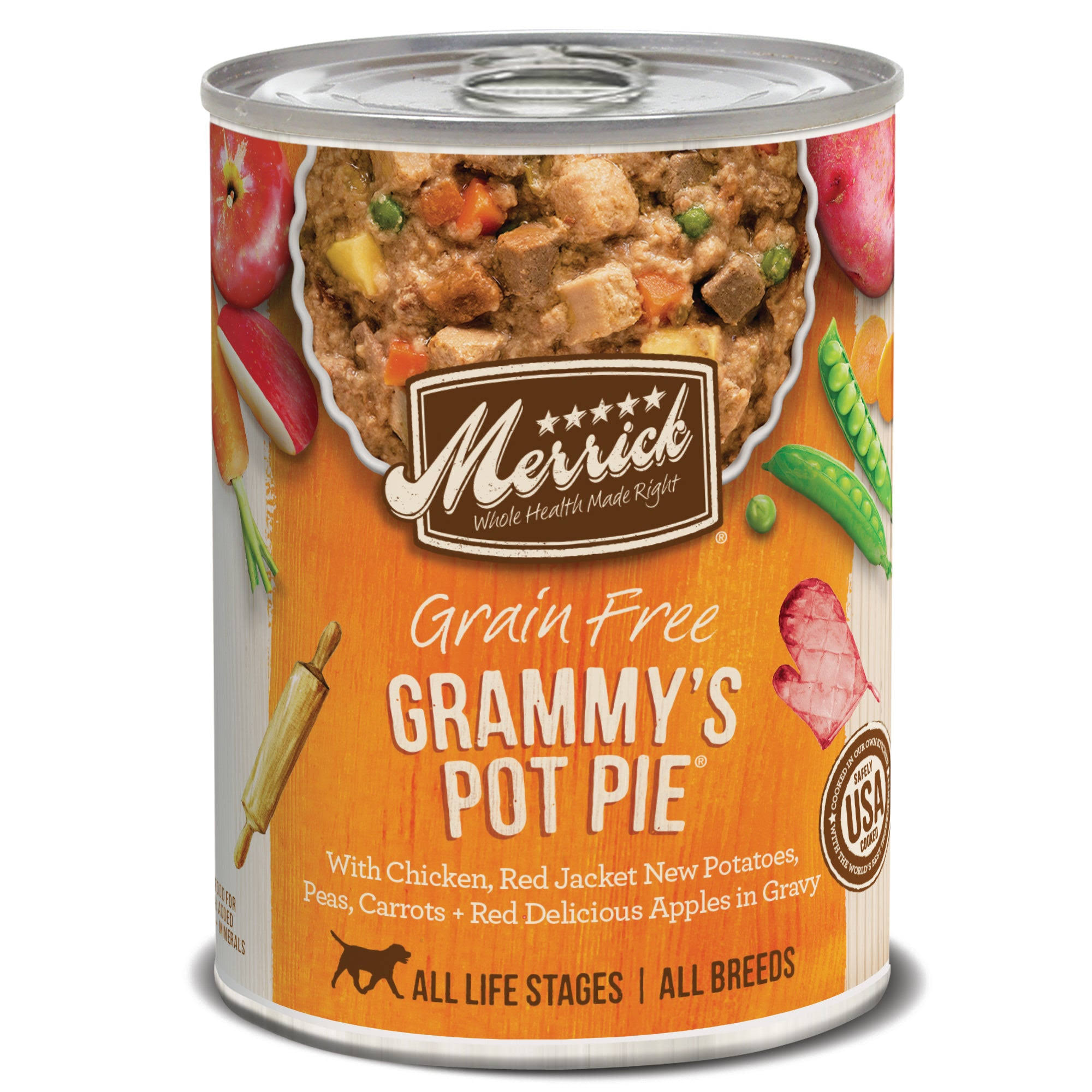 Merrick Grain-Free Grammy's Pot Pie Recipe Canned Dog Food 13.2oz