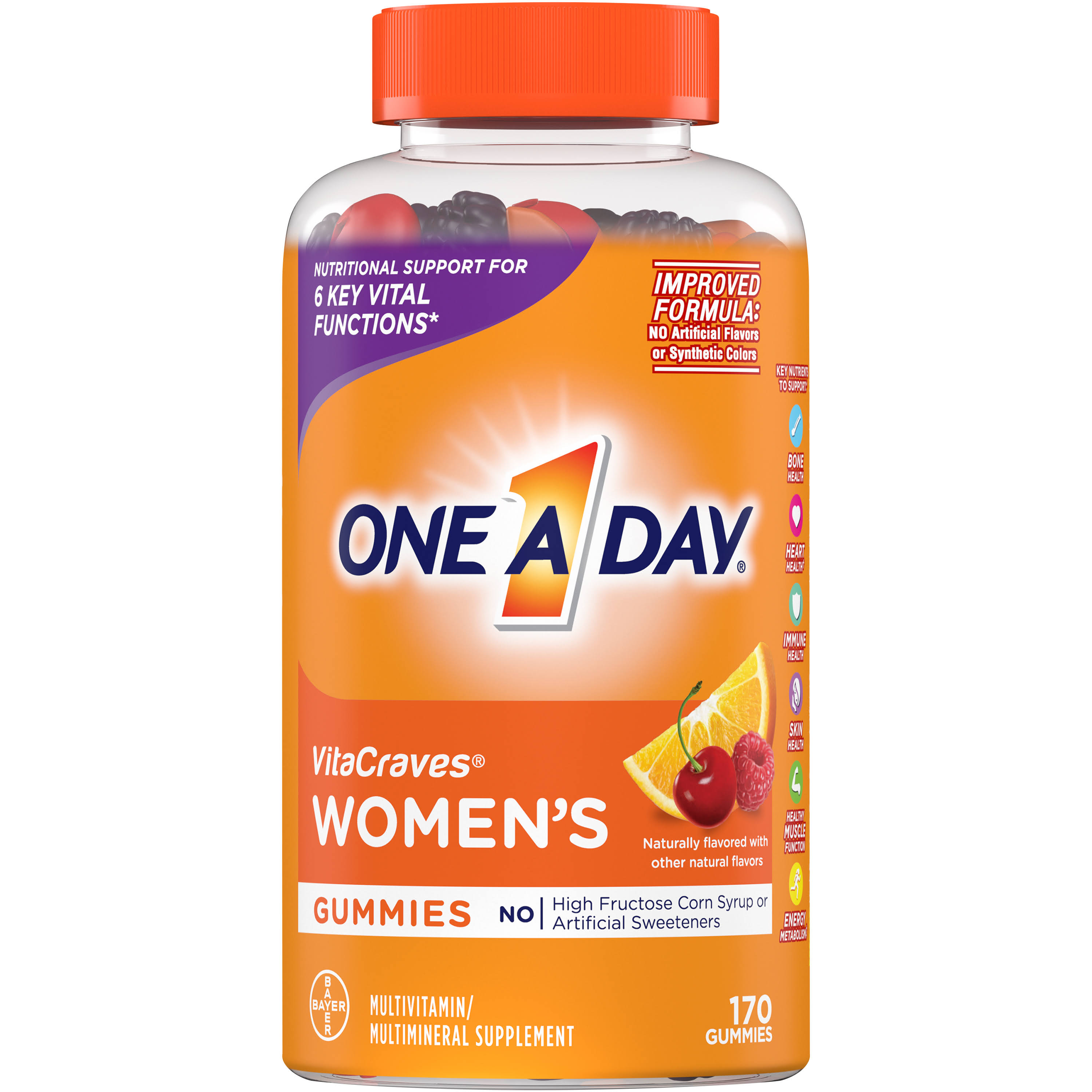 One A Day Women's VitaCraves Multivitamin Gummies, 170 Count