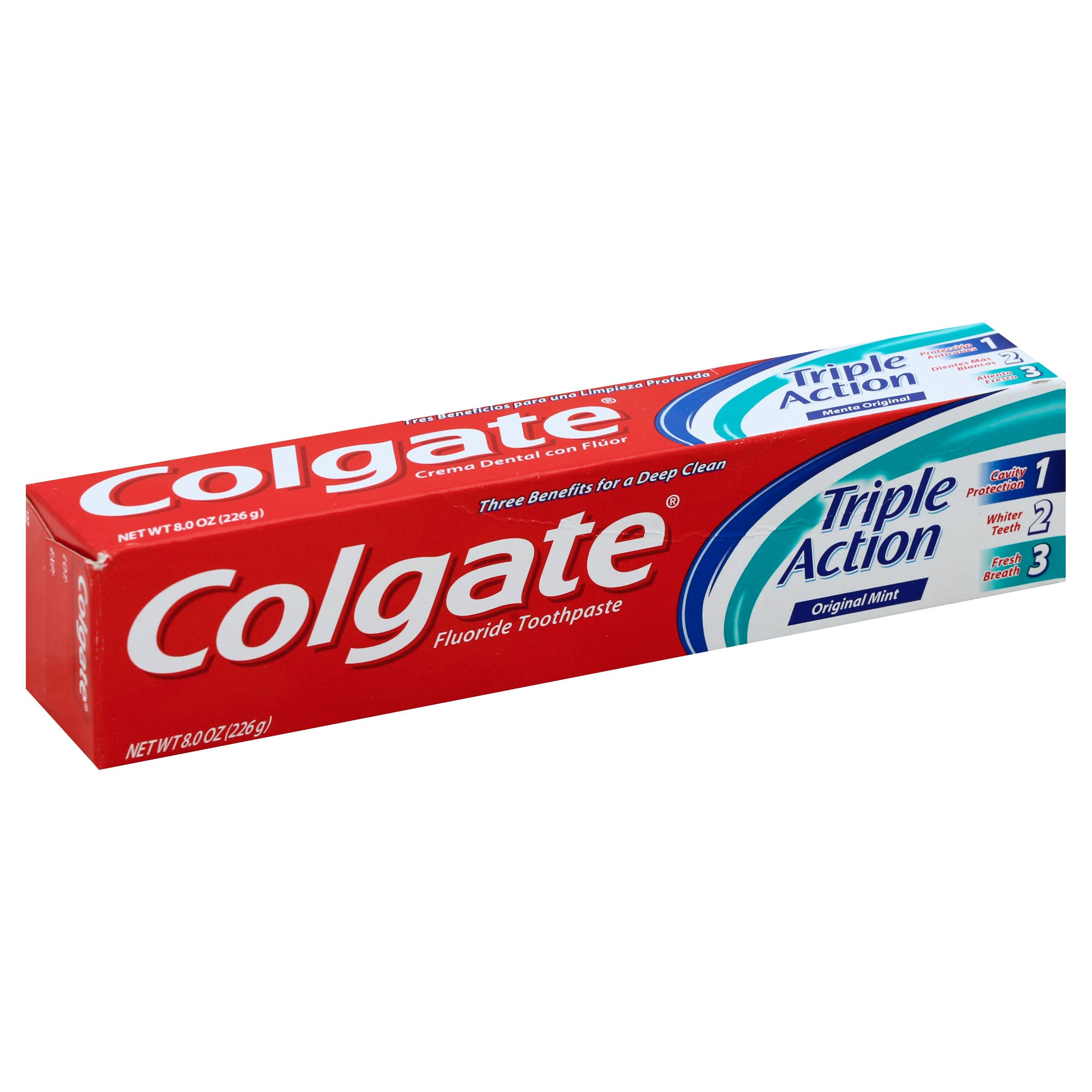Colgate Triple Action Toothpaste - 8oz