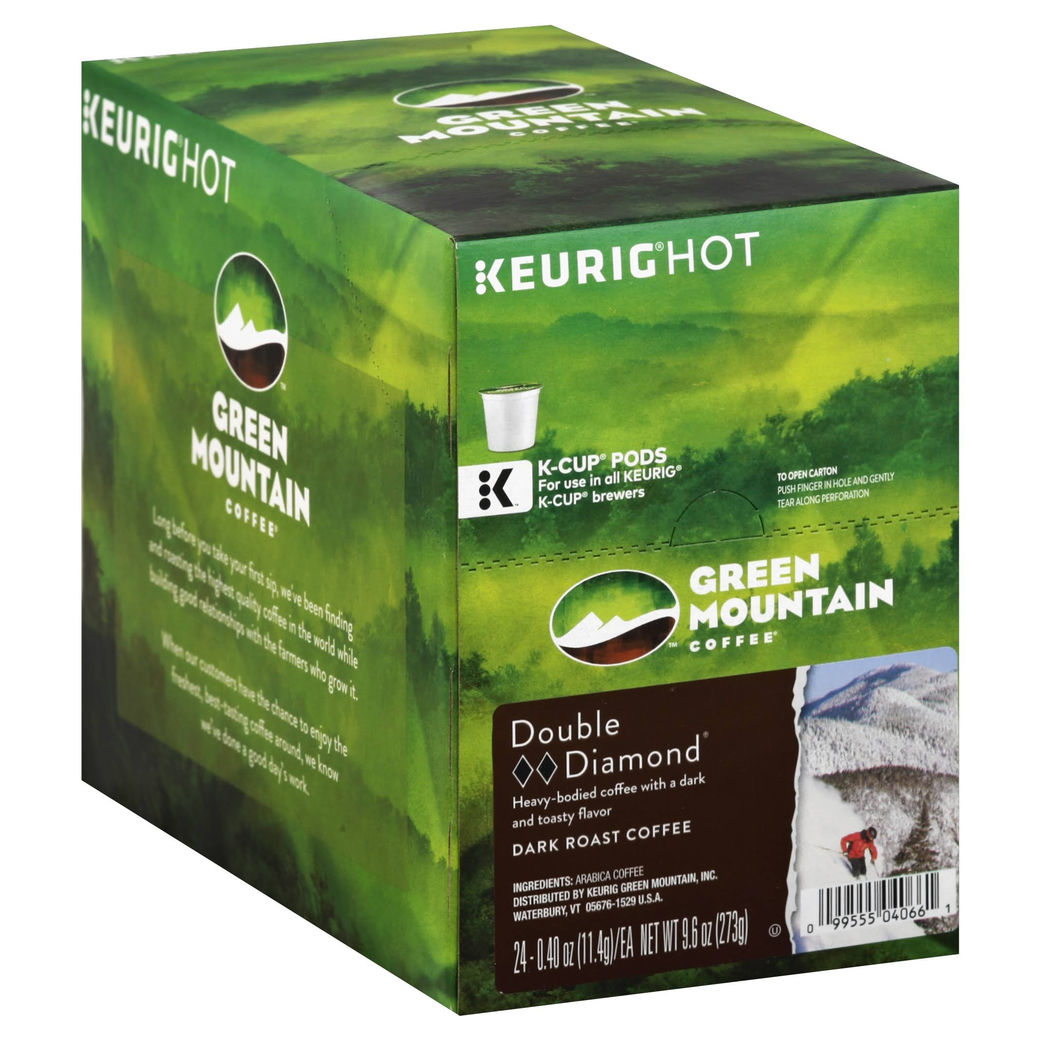 Green Mountain Double Black Diamond K-cup Coffee - Extra Bold, 24ct
