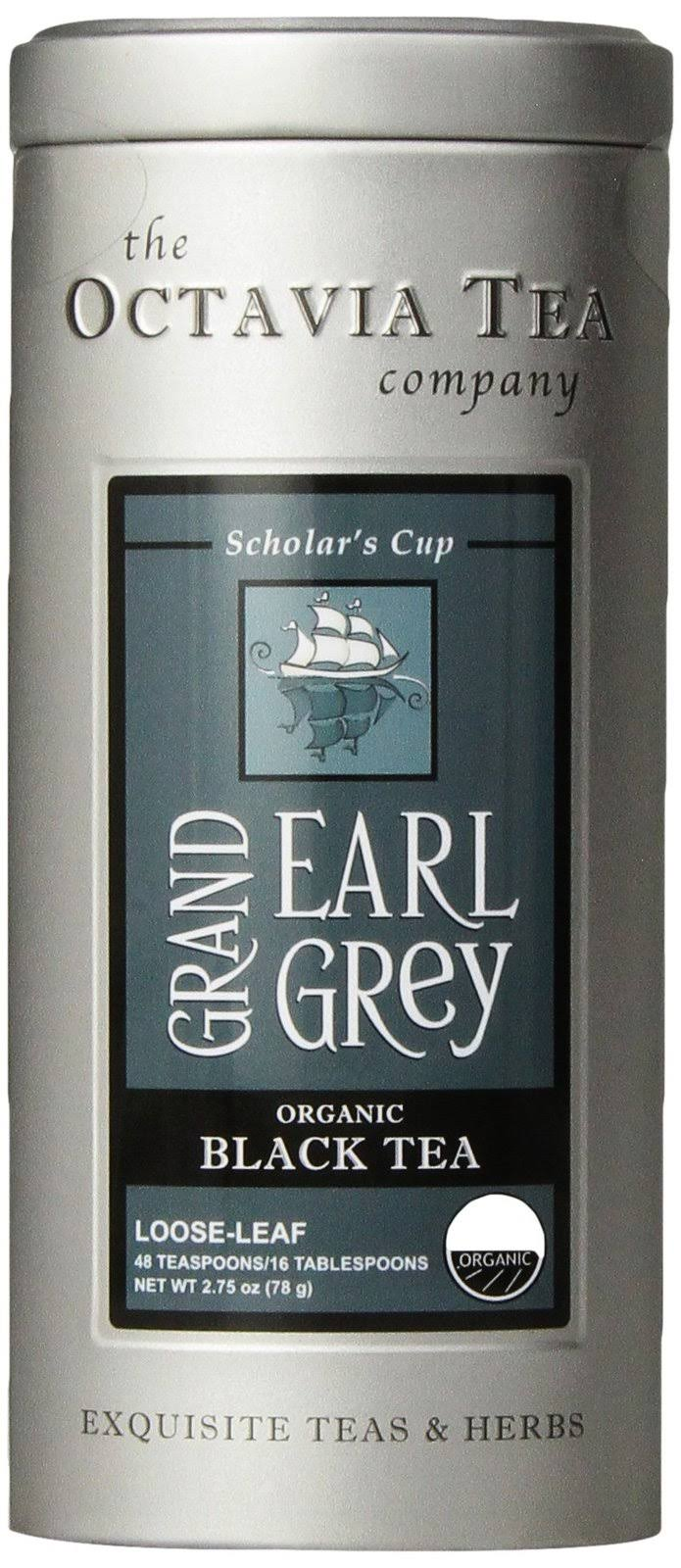 Octavia Organic Black Tea, Grand Earl Grey - 3.5 oz canister