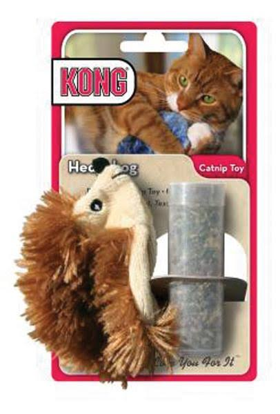 Kong Hedgehog Refillable Catnip Toy - colors Vary