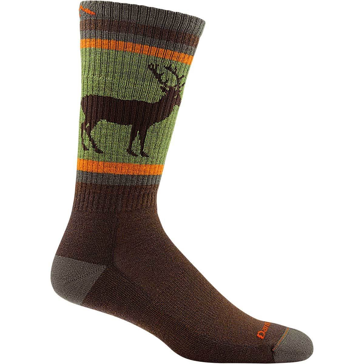 Darn Tough Men's Uncle Buck Boot Cushion Socks - Brown, X-Large