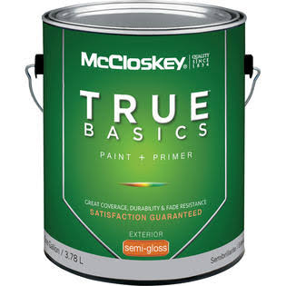 McCloskey True Basics Exterior Latex Semi Gloss Paint - 3.66l