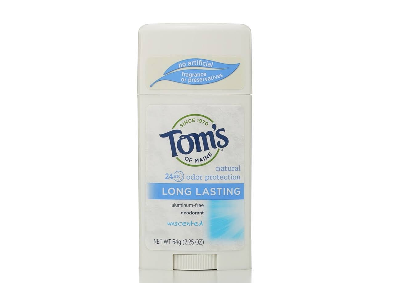 Tom's of Maine Natural Long Lasting Deodorant Stick - Unscented, 2.25oz