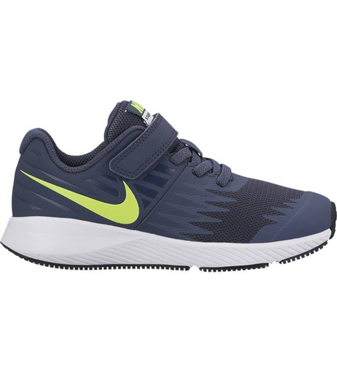 Nike Kid's Star Runner PSV Running - Thunder Blue/Volt, US1 Youth