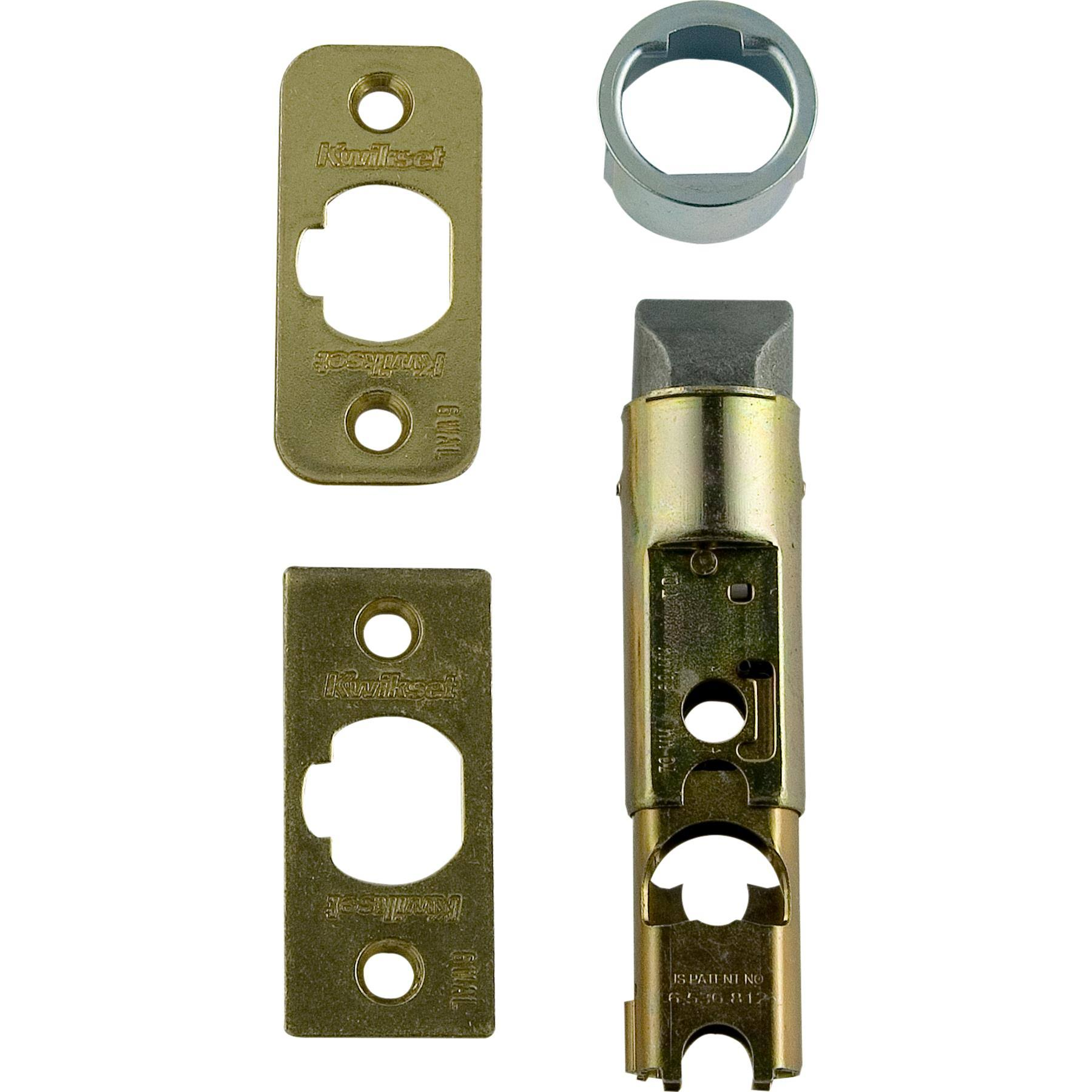 Kwikset Entry Door Latch - Bright Brass