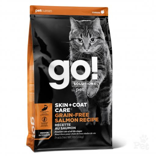 Go! Grain Free Skin + Coat Care Salmon Recipe Dry Cat Food, 8 lb