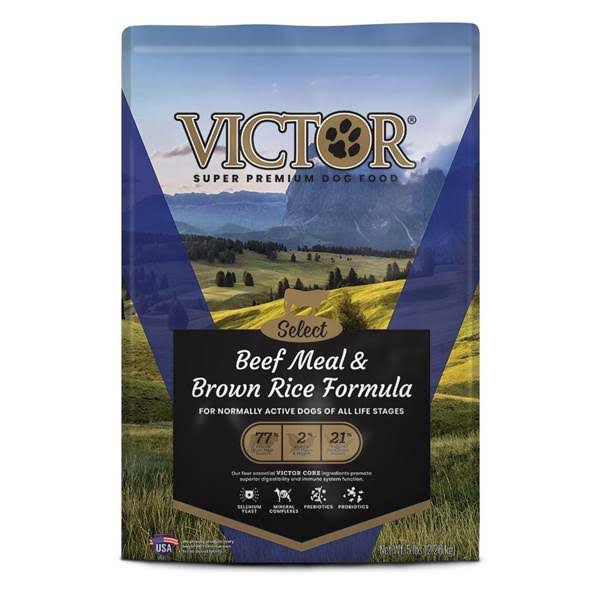 Victor Dry Dog Food - Beef and Brown Rice, 5lb