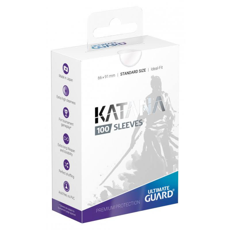 Ultimate Guard Katana Card Sleeves - Clear, 66x91mm