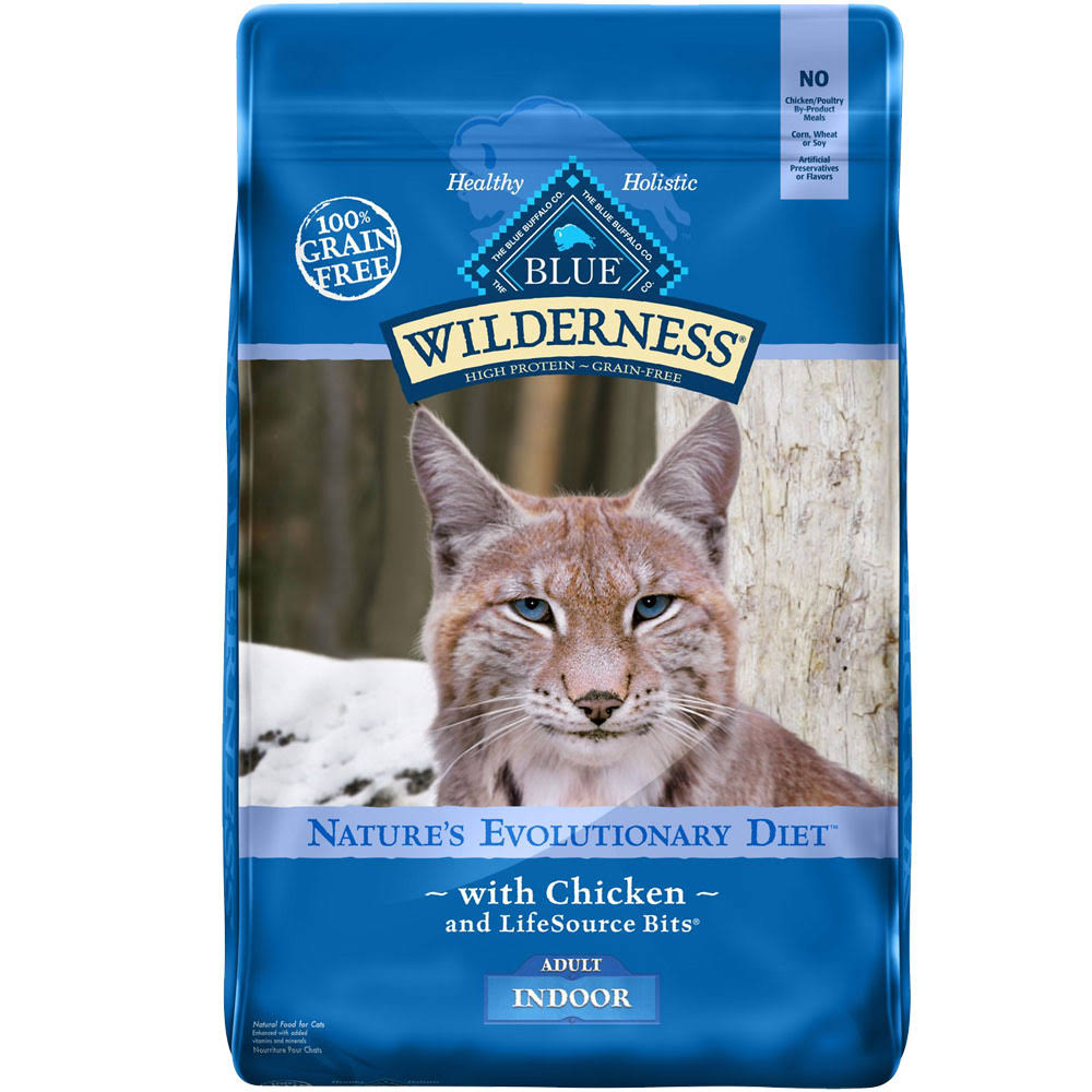 Blue Buffalo Cat Indoor Grain Free Dry Cat Food - Chicken Formula, 11lbs