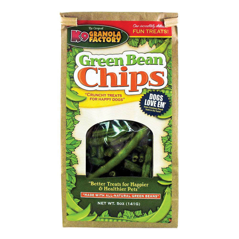 K9 Granola Factory Green Bean Chips Dog Treat - 5oz