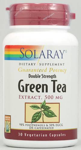 Solaray Green Tea Extract - 30 Vegetarian Capsules, 500mg