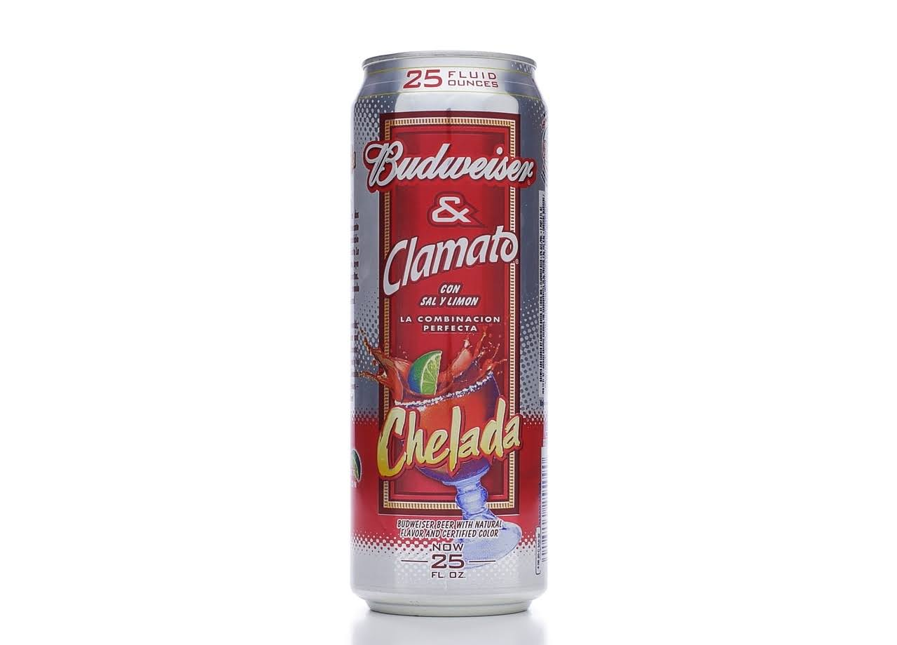 Budweiser Beer & Clamato with Salt and Lime - Chelada
