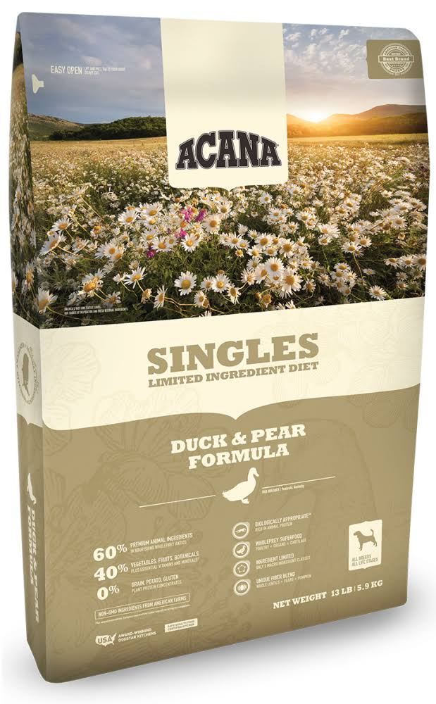 ACANA Singles Duck & Pear Dry Dog Food 25 lbs