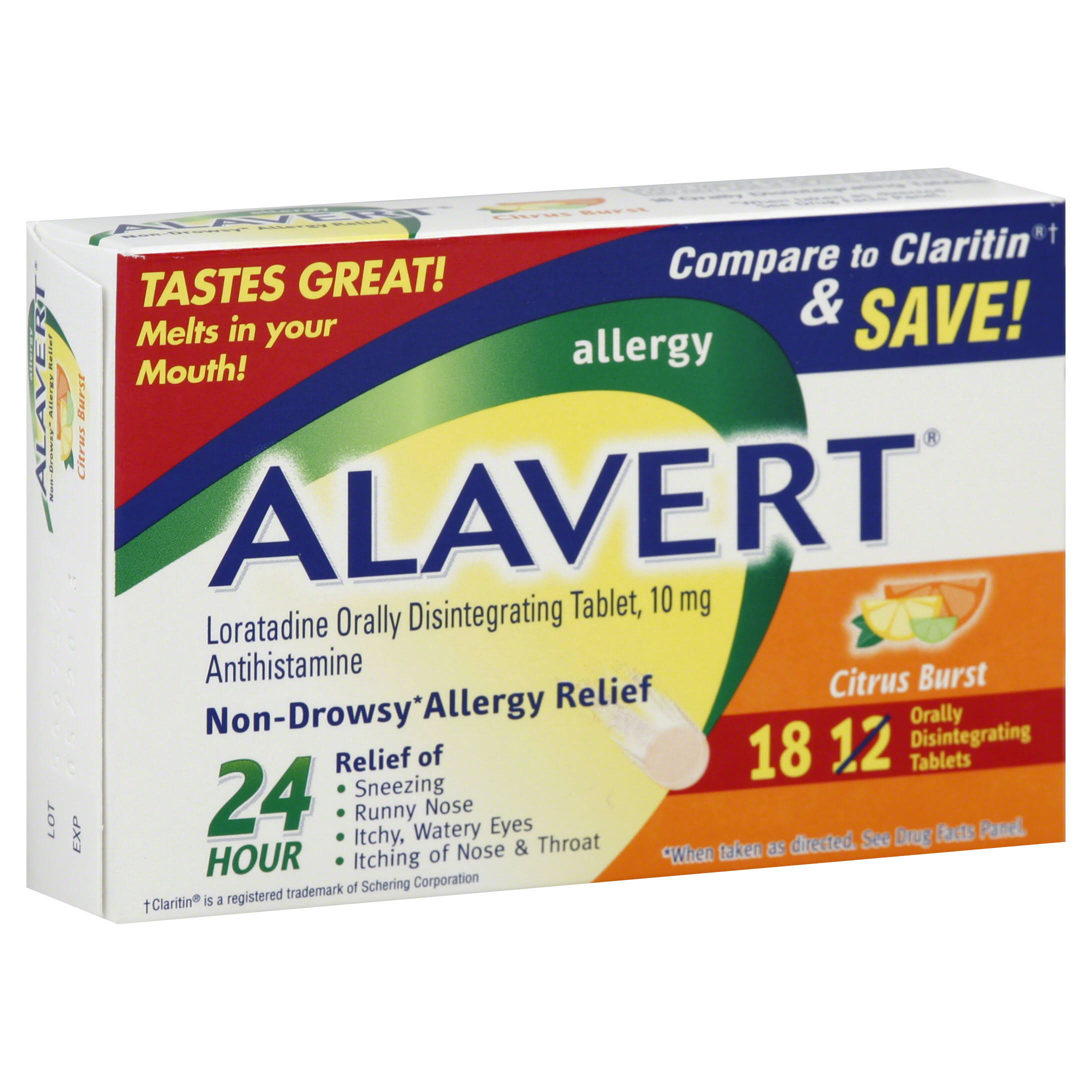 Alavert Allergy Relief Medicine - 18pk, Citrus Burst