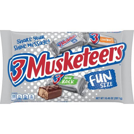 3 Musketeers Candy Bar - Fun Size, 10.48oz