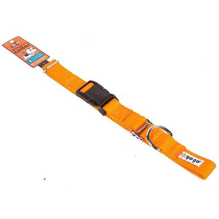 GoGo Pet Products Martingale Dog Collar - Orange, Large