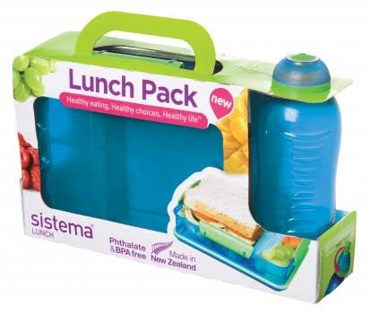 Sistema Snack Attack Duo and Twist n Sip Bottle Lunch Pack - 330ml