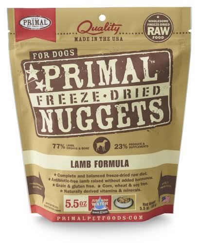 Primal Freeze Dried Nuggets Dog Food - Lamb Formula, 5.5oz