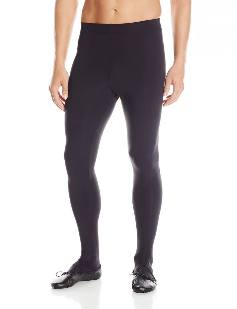 Capezio Men's Footed Tights - Small, Black