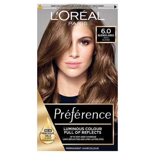 L'Oreal Preference Permanent Hair Dye - 6 Buenos Aires Dark Blonde